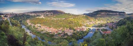 180 degree panorama of Veliko Tarnovo in the fall