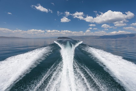 High-speed boat on the lake