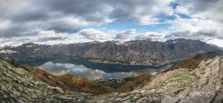 Panorama from the peak of St. Elijah in Montenegro 版權商用圖片