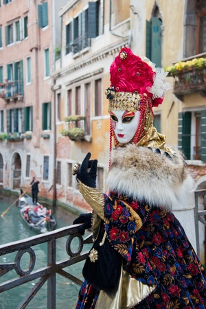 Traditional carnival mask in Venice photo