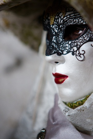 Traditionnel masque de carnaval � Venise