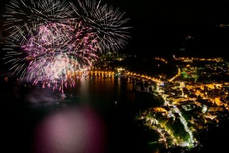 Fireworks in the Bay of Garda photo