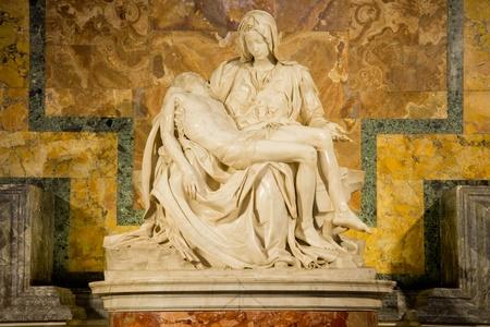 Piet by Michelangelo, in St. Peter\'s Basilica, Vatican