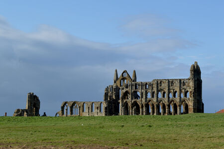 whitby: Ruins of Whitby Abbey in Whitby, England