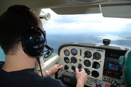 A pilot in training