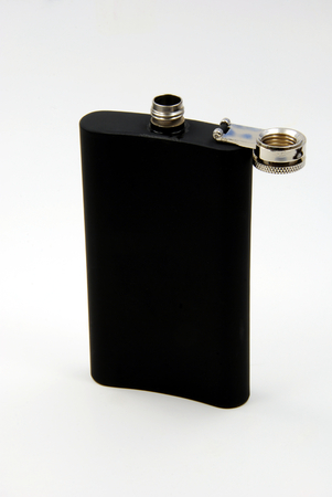 Black Drinking Flask - Back - Open