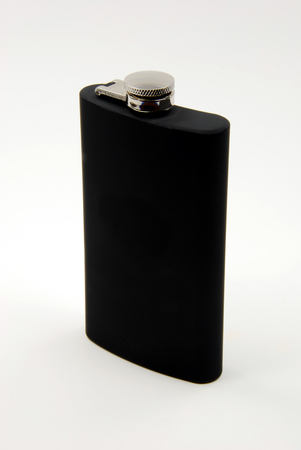 Black Drinking Flask - Front