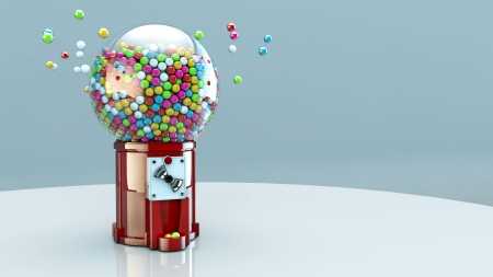 gumball: gumball machine Stock Photo