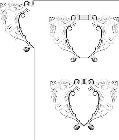 Angel frame Vector
