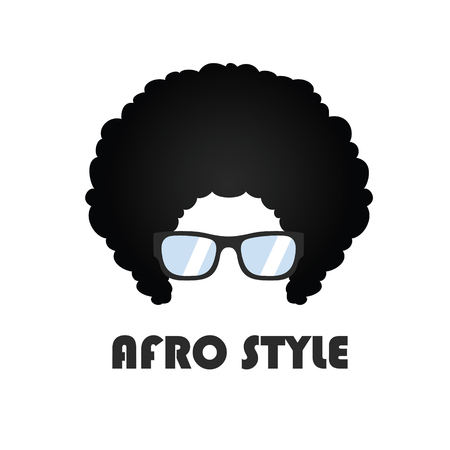 Geek With Afro Hair And Stylish Glasses