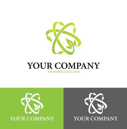 Agriculture Science Logo Flat Design Template Design Style. Vector Illustration Illustration