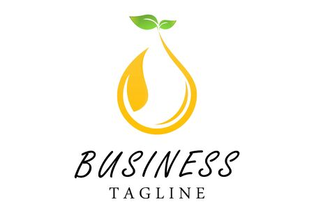 business extracting oil golden essences from Plants Design Flat Design Style Template. Vector Illustration