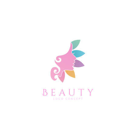 Women face beauty spa Design Symbol Template Flat Style Vector Illustration