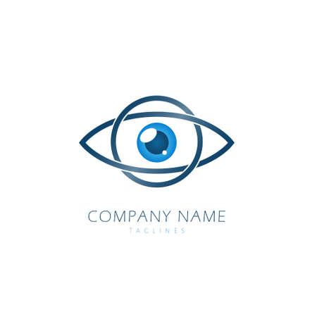 EYE Logo Design Template Flat Style Vector Illustration