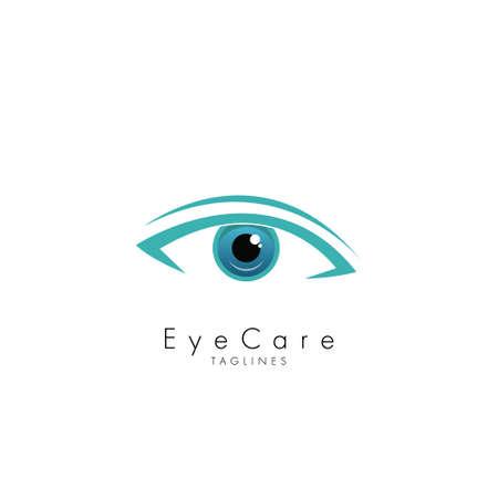 Eye Care Design Symbol Template Flat Style Vector Illustration