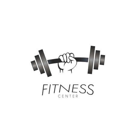 Fitness Center Logo Design Template Flat Style Vector Illustration