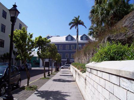 This beautiful view of downtown Hamilton Bermuda will shows the simplicity of the city.