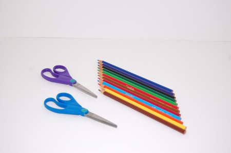 This handful of school supplies are on the must-have list! Stock Photo