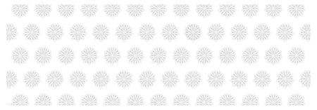 Black and white floral background with snowflake ornament. Seamless repeating pattern. Vector illustration. Stock Photo