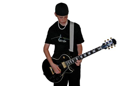 Boy Playing Guitar Reklamní fotografie