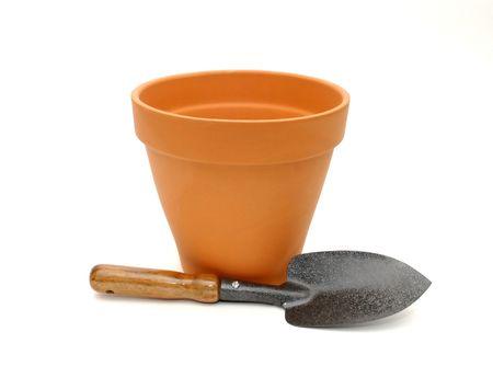 Garden Pot and Spade