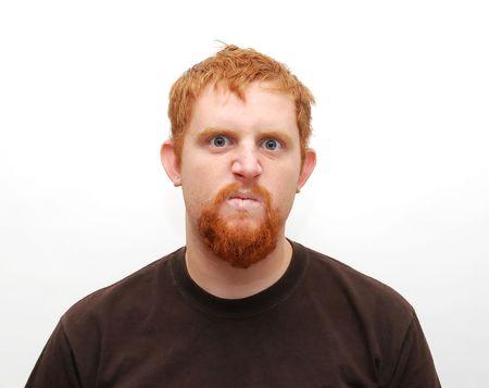 schittering: Angry Guy Stockfoto