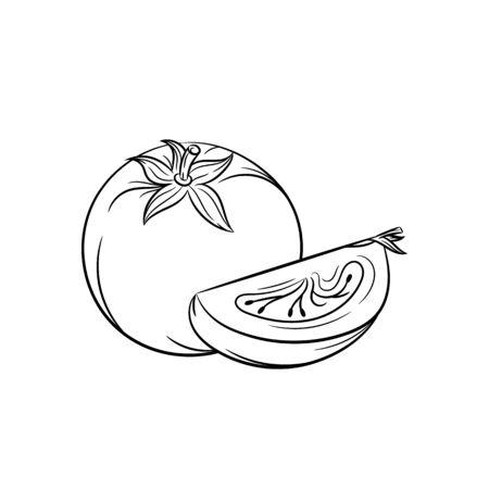 etched: Tomato. Illustration