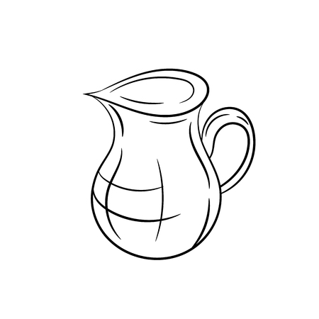 jug clipart black and white. jug clip art: hand draw on a white background clipart black and
