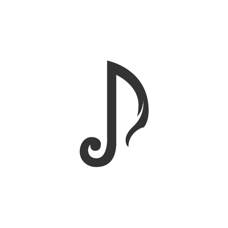 Music Icon. Music logo. Vector design element. Abstract emblem, graphic design concept. Logotype element for template. Vector illustration on white background - stock vector Illustration