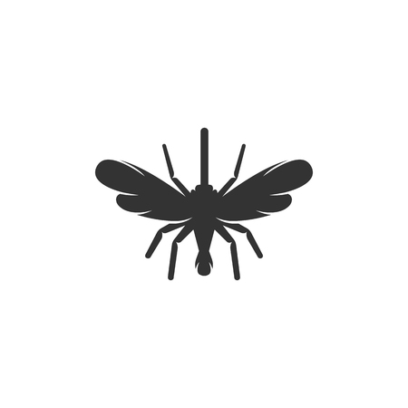 anopheles: Mosquito icon on white background. Mosquito vector Flat design style. Modern vector pictogram for web graphics. - stock vector Illustration