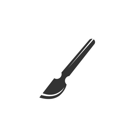 scalpel: Scalpel icon isolated on a white background Illustration