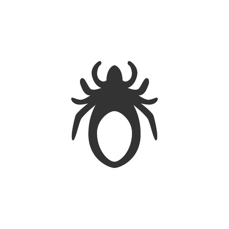 mite: Mite Icon isolated on a white background.