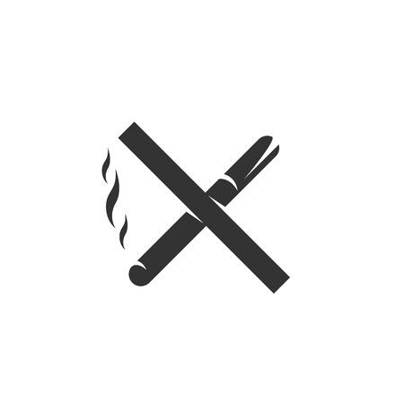 pernicious habit: No smoking Icon isolated on a white background.