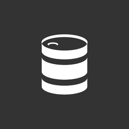 barel: Barrel icon. isolated on black background. illustration