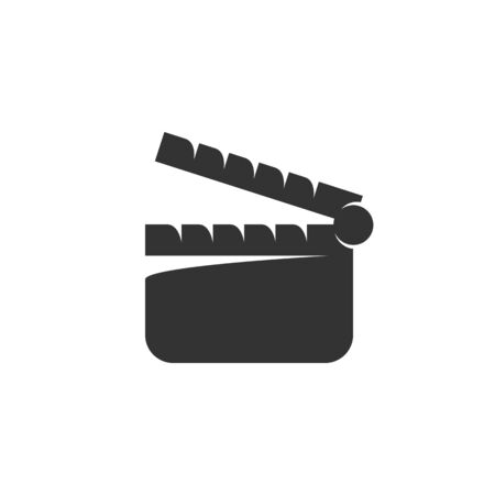 Clapper board icon isolated on a white background