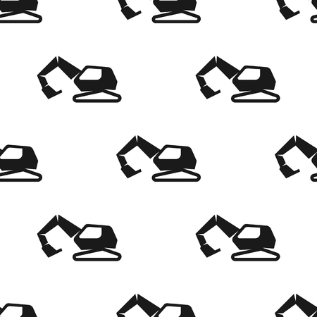 Excavator seamless pattern. Vector illustration for backgrounds