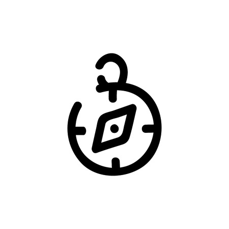 Compass icon. Vector hand drawn illustration. Line symbol Foto de archivo - 125928389