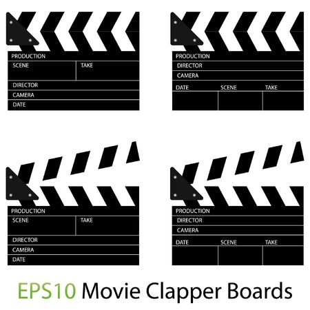 Illustrations of Movie Clapper Boards