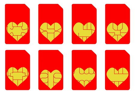 prepaid card:  Love Heart SIM Cards