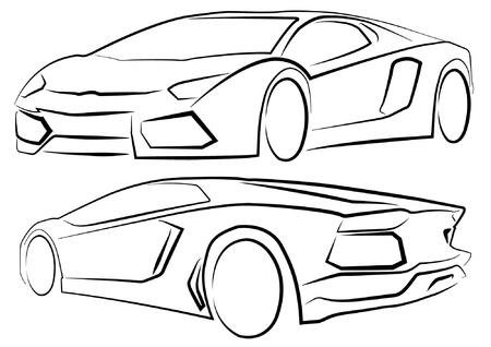 sagome di auto di fronte e sul retro