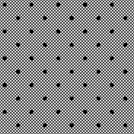 sexy stockings: Schwarze Spitze Muster mit Dots auf einem wei�en Hintergrund Illustration