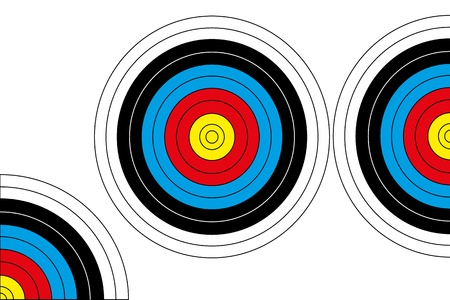 Archery Target  Full   Half and Quarter   Illustration