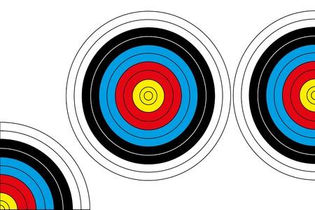 Archery Target  Full   Half and Quarter Stock Vector - 17286122