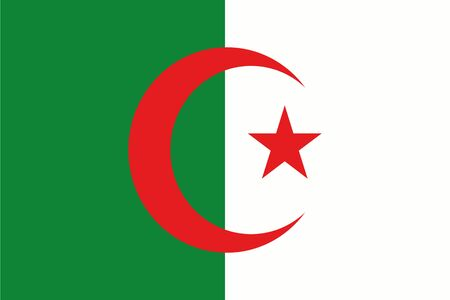 frontview: An illustration of the flag of Algeria