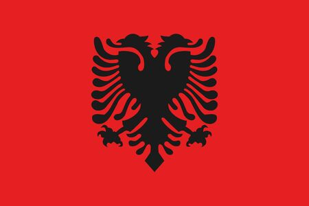 albania: An illustration of the flag of Albania