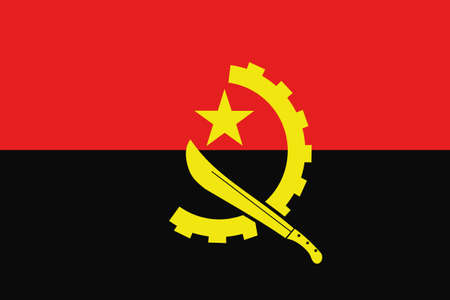frontview: An illustration of the flag of Angola
