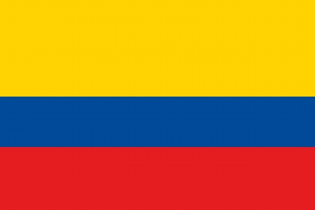 colombia: An illustration of the flag of Colombia