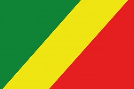frontview: An illustration of the flag of Congo