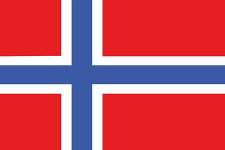 frontview: An illustration of the flag of Norway Stock Photo