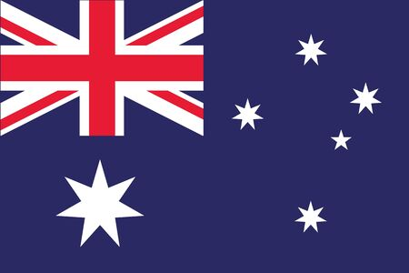 australian: An illustration of the flag of Australia Stock Photo